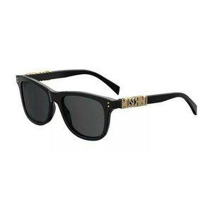 MOSCHINO Black Sunglasses Size 53mm 140mm 18mm